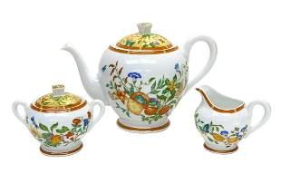 Hermes Paris Porcelain Tea Set in La Siesta