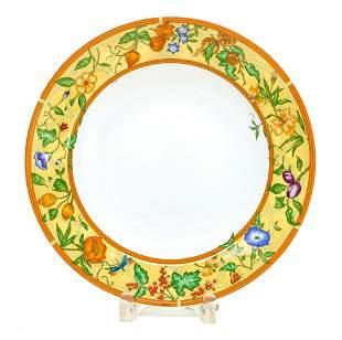 Hermes Paris Porcelain Deep Round Platter in La Siesta