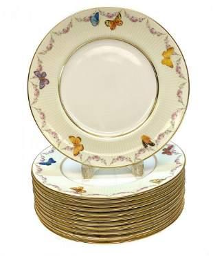 12 Royal Doulton Porcelain Dinner Plates