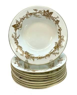 8 Minton  Porcelain Rimmed Soup Bowls