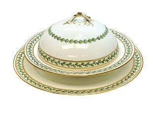 Minton for Tiffany Porcelain Lidded Bowl & Underplate