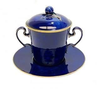 Manufacture Sevres Porcelain Socketed Cup & Saucer