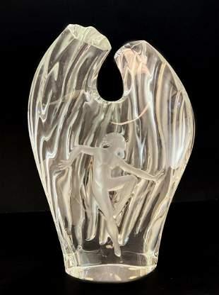 Lalique Glass Dora Vase, Figural Nude Dancer, Ltd Ed