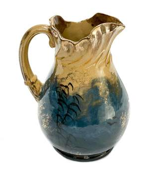 Rookwood Pottery Limoges Glaze Pitcher Martin Rettig