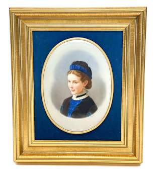 KPM Hand Painted Porcelain Plaque of a Beauty, Signed