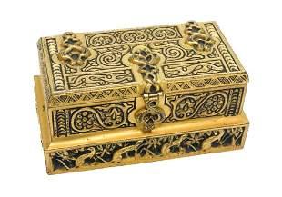 Tiffany Studios Gilt Bronze Stamp Box in Venetian #1645