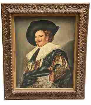 Oil On Cavas Portrait Painting Laughing Cavalier