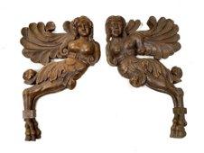 Continental Wooden Angelic Figures