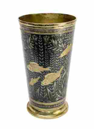 Russian 875 Gilt Silver Engraved Tumbler