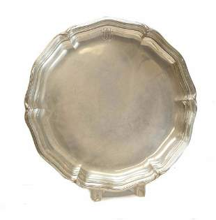 Emile Puiforcat  Sterling Silver Round Serving Tray