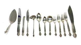 97pc Georg Jensen Sterling Silver Flatware Service Set