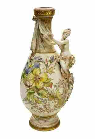 Large Amphora RSTK Enamel Pottery Vase of A Beauty Art