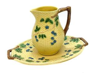 Tiffany Portugal Porcelain Yellow Water Pitcher Basin
