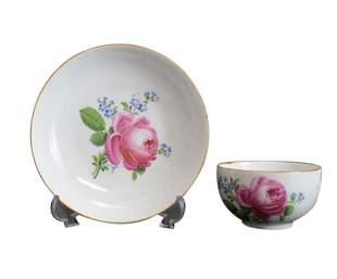 Meissen Marcolini Porcelain Cup & Saucer, 1814