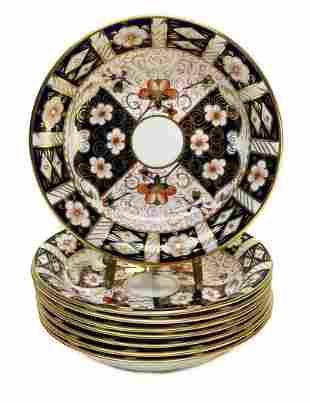 8 Royal Crown Derby Porcelain Plates Bowls in