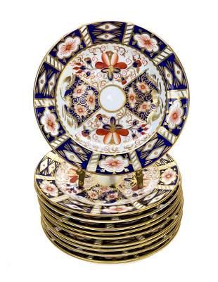 10 Royal Crown Derby Porcelain Bread Plates in