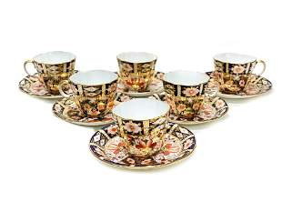 6 Royal Crown Derby in Traditional Imari Cup and
