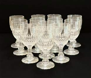 12 Baccarat Cordial Wine Goblets in Odeon