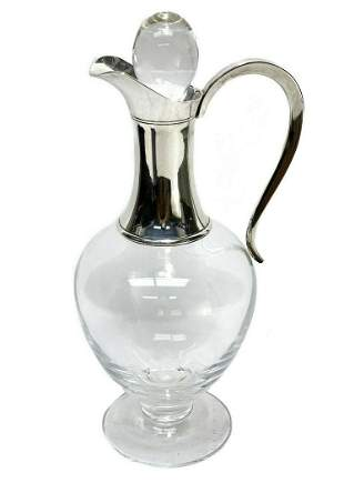 Asprey London Sterling Silver and Glass Carafe Jug,
