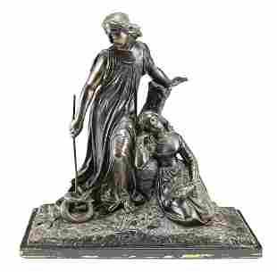 Patinated bronze Figures, Mythological, 19th C.