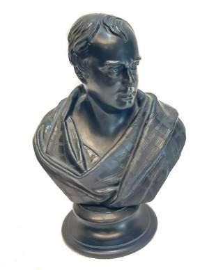 Wedgwood Black Basalt Bust Sculpture, Walter Scott