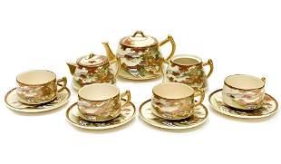 Japanese Satsuma Porcelain Tea Service Set for 4