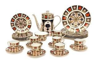 Royal Crown Derby Porcelain Group in Old Imari #1128