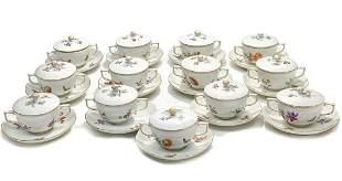 12 Royal Berlin KPM Porcelain Bowls & Underplates