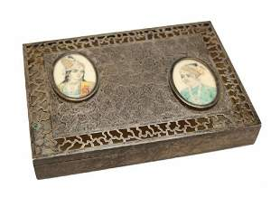 Middle Eastern Sterling Silver Pierced Potpourri Box