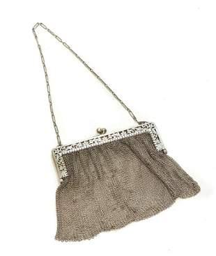 Sterling Silver Mesh Chainmail Purse Handbag