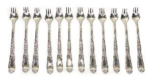 12 Tiffany & Co. Sterling Silver Oyster Forks  in