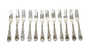 12 Tiffany & Co. Sterling Cocktail Forks in