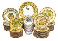 Hermes Porcelain Dinner Service for 12 in La Siesta