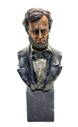 Francis Barnum Chilmark Pewter Abraham Lincoln Bust