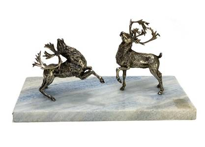 Italian Silver Sculptural Group by Roselli