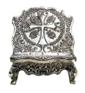 Spanish 900 Silver Bible Stand 19th Century. Stands
