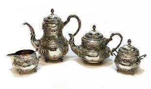 Weinranck Wilhelm Hanau 800 Silver 4pc Coffee Tea Set