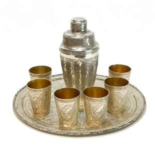 Persian 84 Silver Ornate Vodka Martini Set