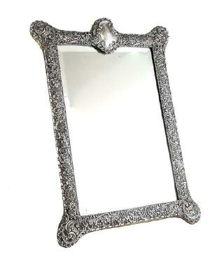 English Victorian Sterling Silver Mirror Table