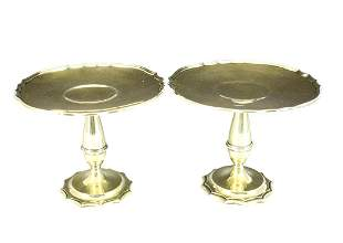 Pair of Gorham Gilt Silver Compotes, 1912
