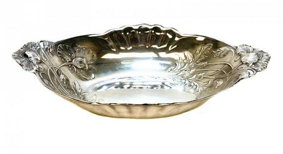Christofle Silver Plate Oval Centerpiece Bowl, Ltd Ed