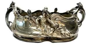A. Perron Jugendstil German Silver Plate Jardiniere