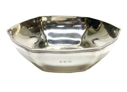 Tiffany Sterling Silver Hexagonal Lobed Bowl #18165