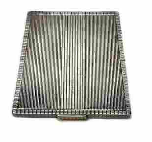 Asprey London FOS Sterling Silver Parcel Gilt Compact