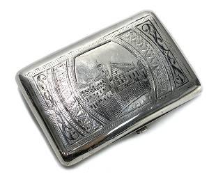 Russian 84 Silver Andrej Postnikov Cigarette Case