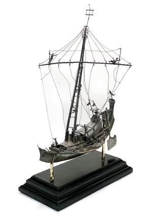 Silver Ship Model