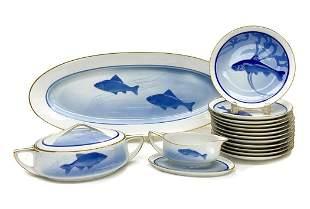 Rosenthal Selb Bavaria Porcelain Fish Dinner Set for 12
