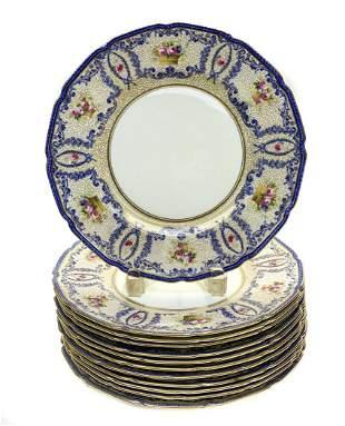 12 Royal Doulton England Porcelain Dinner Plates