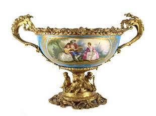 Sevres Porcelain Centerpiece Bowl, Late 19th C.
