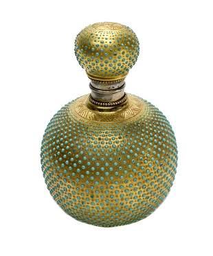 Coalport Porcelain Enamel Jeweled Perfume Bottle